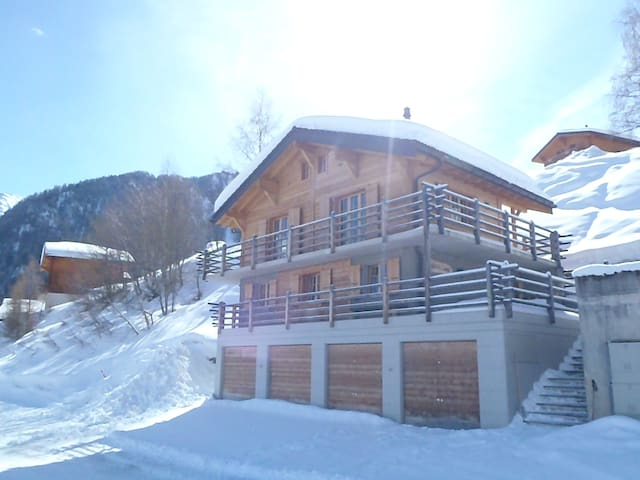 Stylish designed chalet with a view