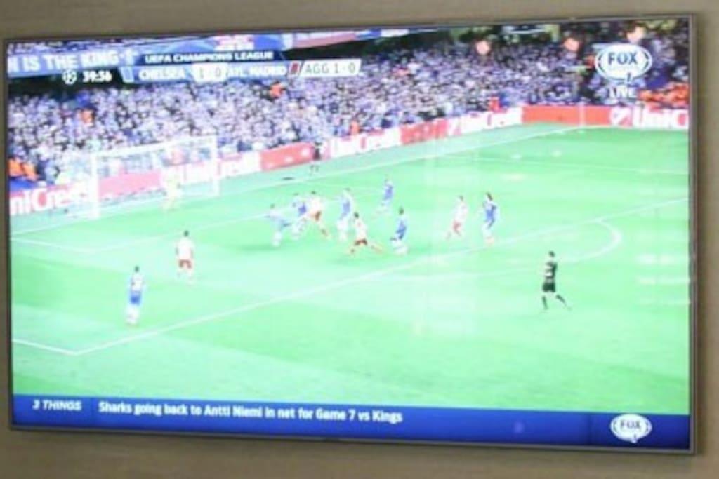 Flat screen HDTV with high speed internet