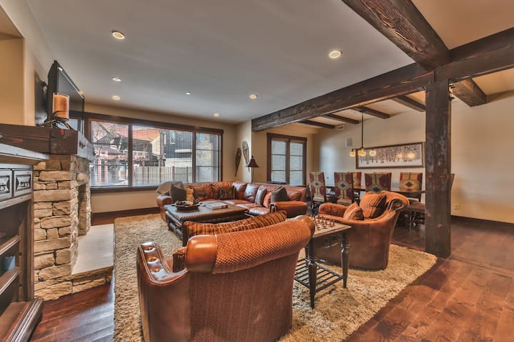 Great Room - Living Room, Dining Area and Gourmet Kitchen with Beautiful Hardwood Floors
