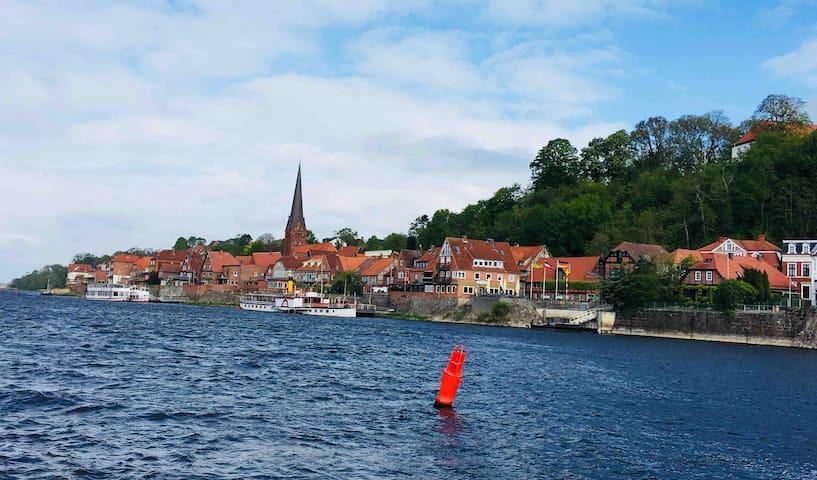 Gemütliche Ferienwohnung mit Balkon in Lauenburg