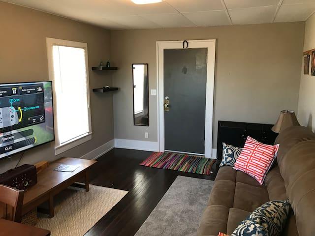 "Living room.  60"" Smart TV"