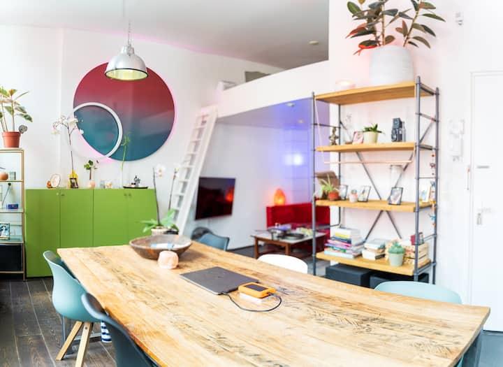 Bright, spacious loft in downtown Utrecht