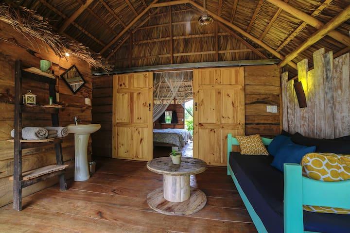 Baño cabaña de madera