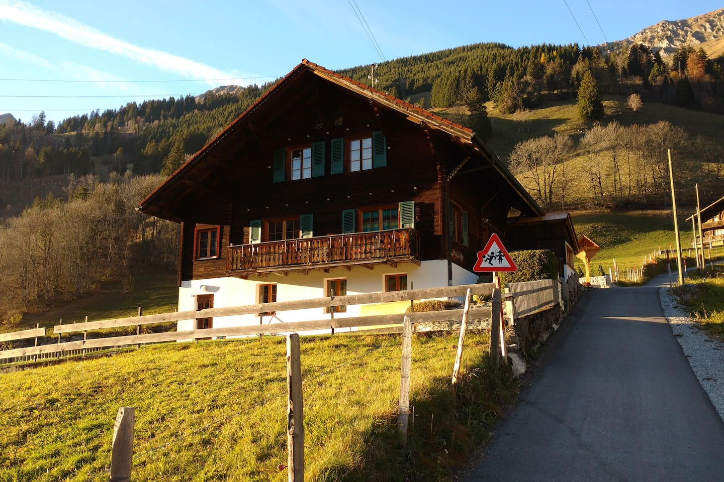 South-facing side of the chalet