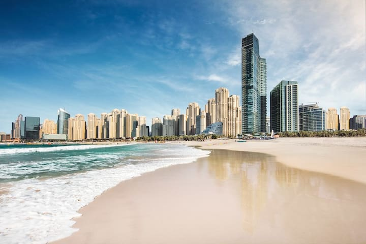 ⭐JBR PRIVATE BEACH, 30 m Pool, Bed/Bath Wifi
