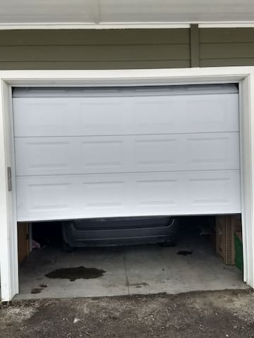 You have a garage bay to park in and a washer and dryer to use.