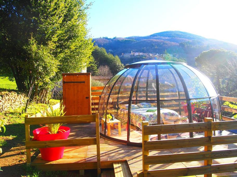 Bulle transparente insolite ard che chambres d 39 h tes - Chambre agriculture rhone alpes ...