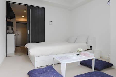 """1 Double bed""""Dotonbori 6min""""Shinsaibash 10min""""#404 - Chūō-ku, Ōsaka-shi - 公寓"""