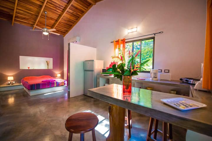 Cosy studio in a tropical parc with pool