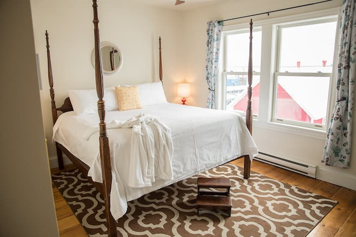 King Room overlooking beautiful Lunenburg Harbor