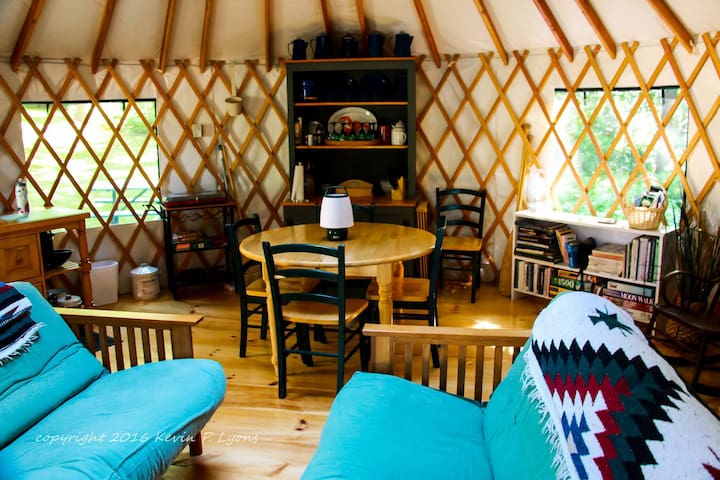 Pine Cone Yurt at Pleasant Pond (private off-grid) - Turner - Yurt
