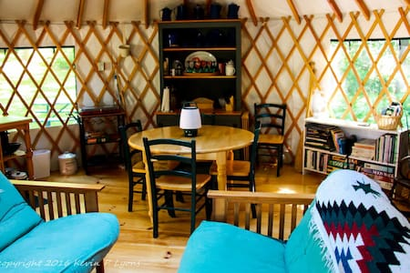 Pine Cone Yurt at Pleasant Pond (private off-grid) - เทอร์เนอร์