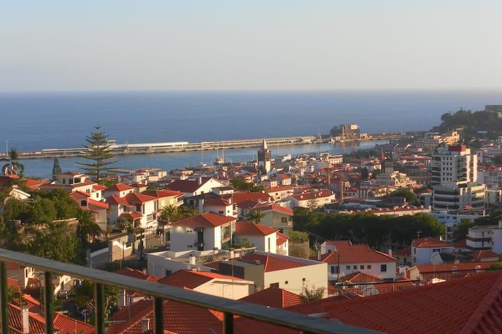 Kamer met balcon en uitzicht op zee in Funchal
