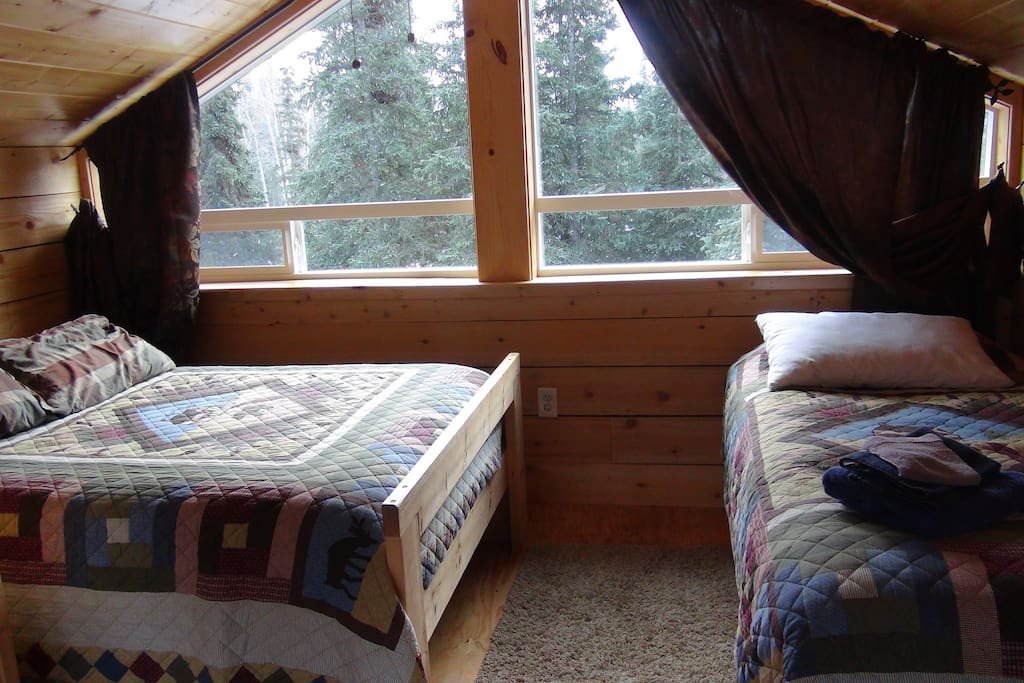 Double and two twin beds