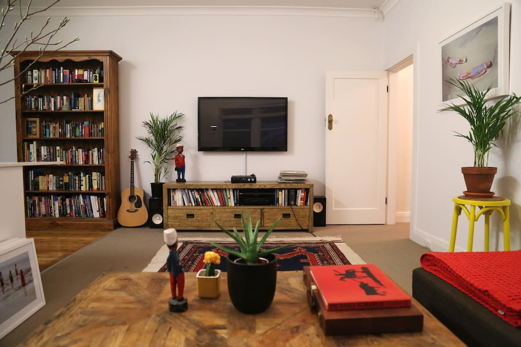 Our book collection is filled with many classics and our television is set up with Foxtel.