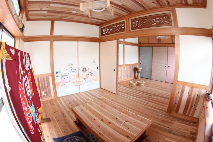 D.I.Y GUEST HOUSE ☆  Private room for 4〜6 person