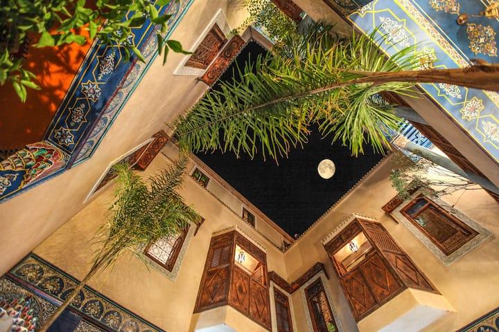 Marrakech Chambre bleu luxe Riad Marrakech Medina