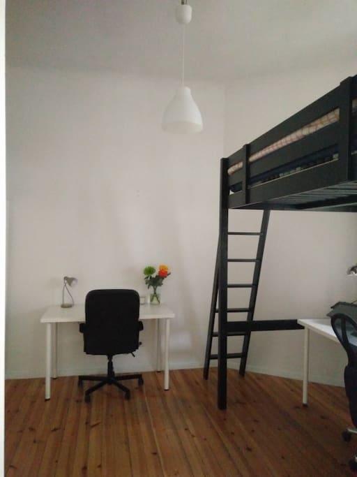 Bedroom with desk