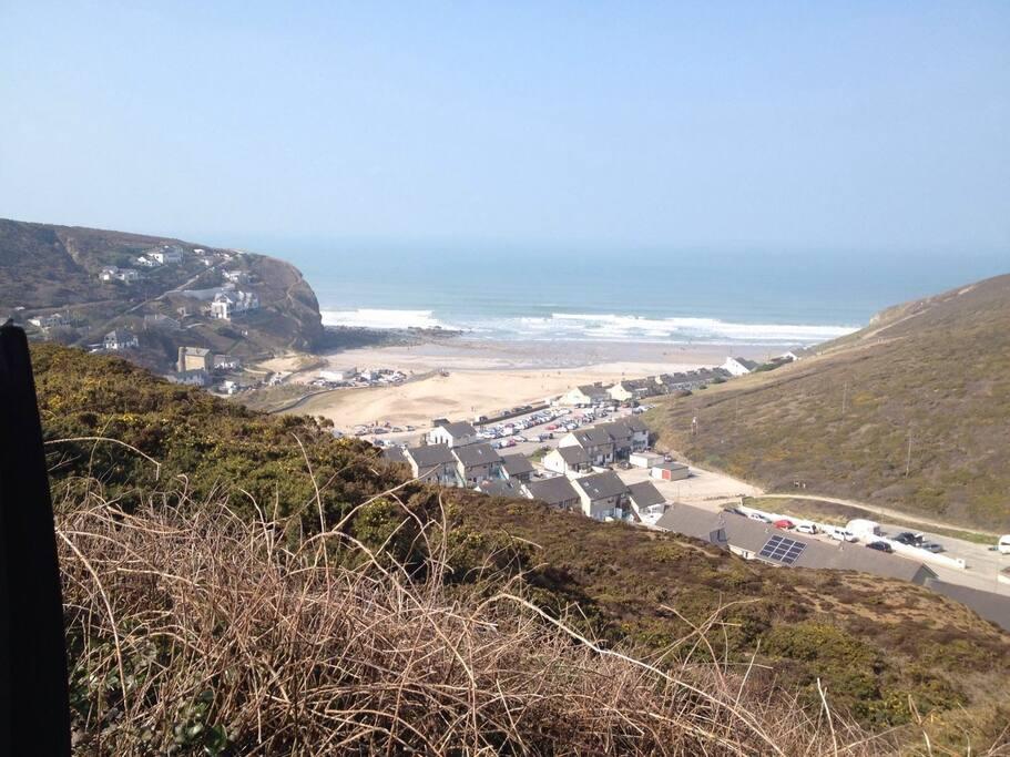 Porthtowan Village, stunning beach and wonderful walks.