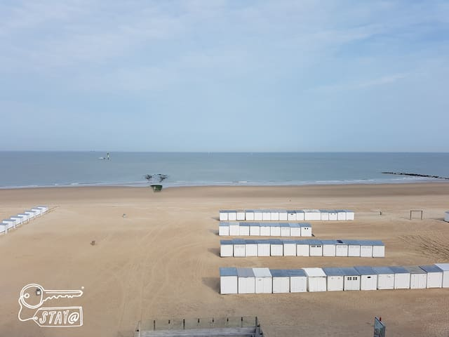 Studio Knokke Zoute with marvellous sea view