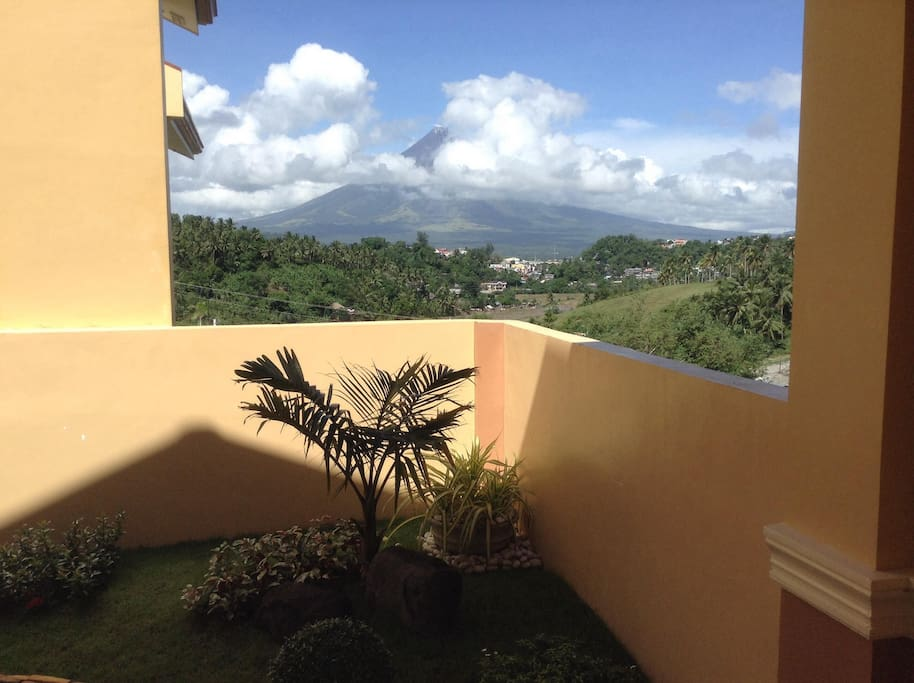 View of Mayon Volcano from the house