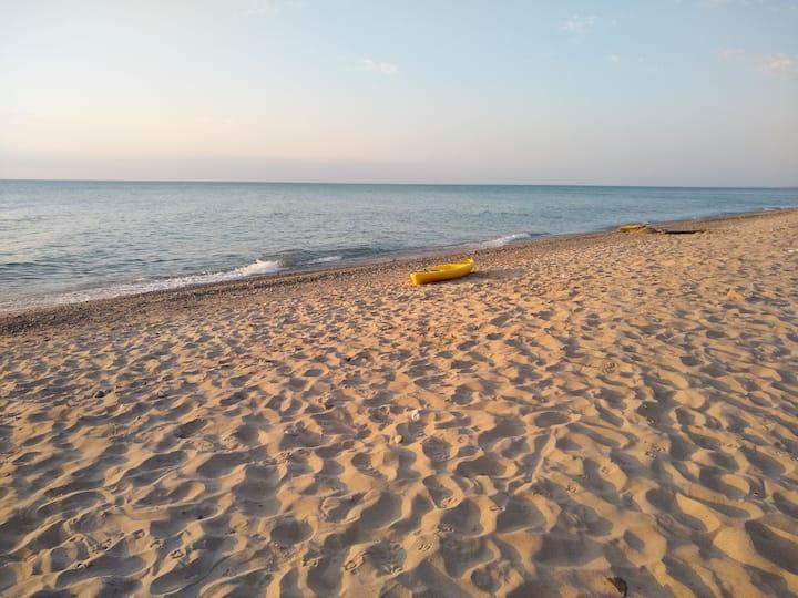 Serene Walk to Lake Michigan Beach, Sand and Surf!