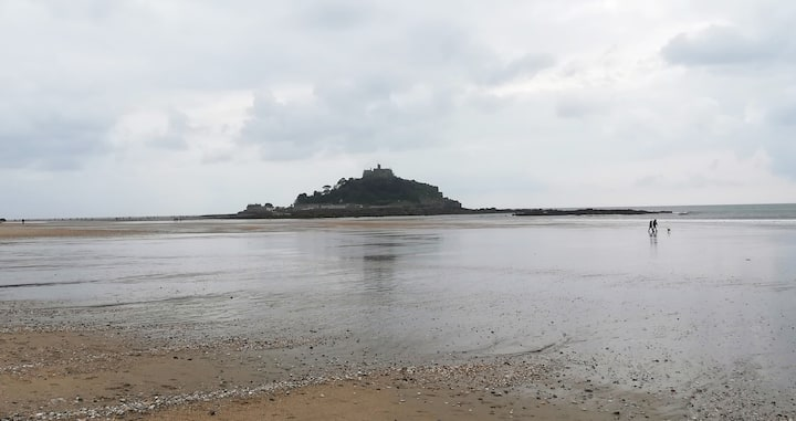 St Michael's Mount, visible from the bay