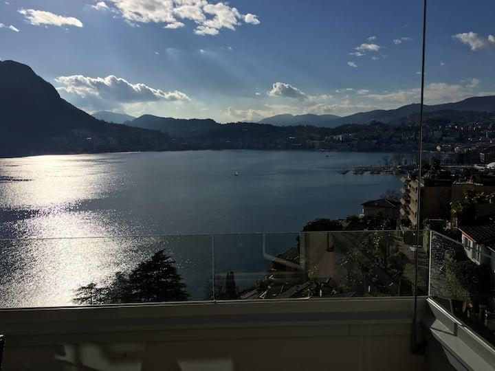Breathtaking view on Lugano Lake
