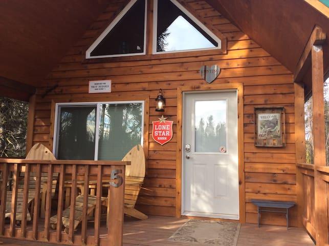 Alaskan Kenai River Fishing Cabin # 5 Western - Soldotna - Blockhütte