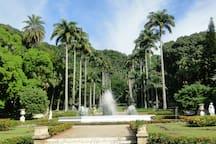 Jardim do Palácio da Guanabara 2 minutos do apartamento