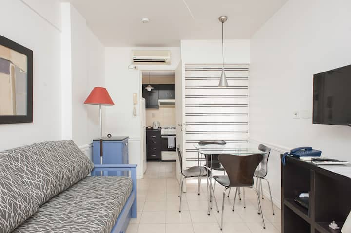 Hermoso apartamento en Recoleta para 2/3 huéspedes