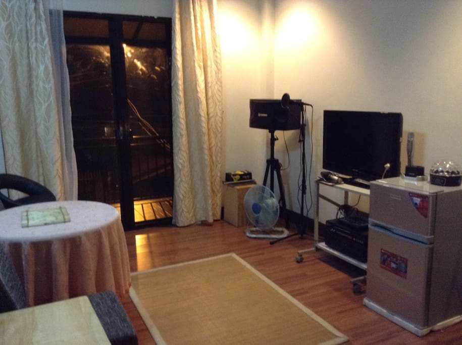 @ the loft. a living room just beside the bedroom, and a terrace.  With TV, personal Ref.