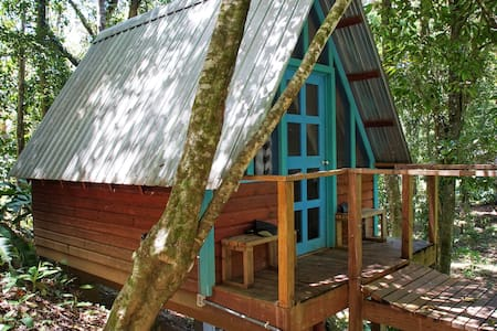 Tree Cabin with 1/2 Bathroom - Walk to Great Surf