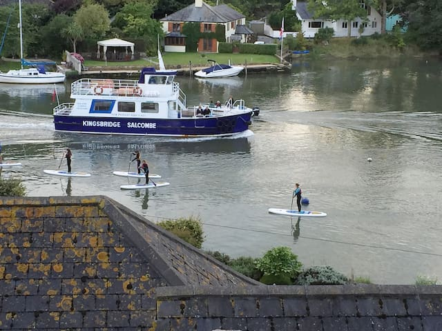 The Rivermaid runs from Kingsbridge to Salcombe. It usually runs a few times a day as all tide dependent. Paddlers View is only a few minutes walk from the pick up and drop off points down on the promenade.