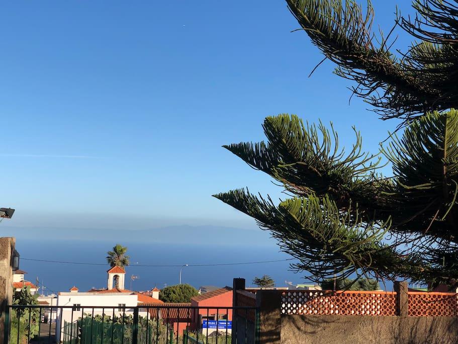 Vistas al mar desde la casa