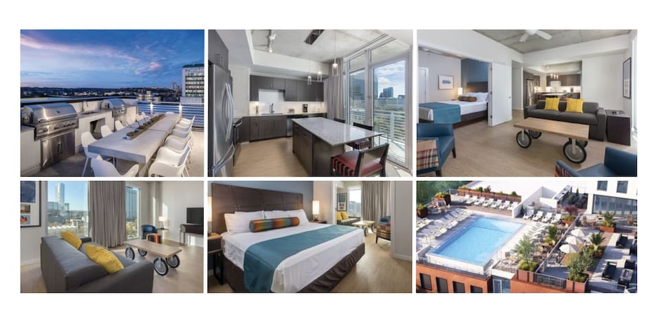 5★ DOWNTOWN Condo~NO CLEAN FEE~Slps 4~ROOFTOP POOL