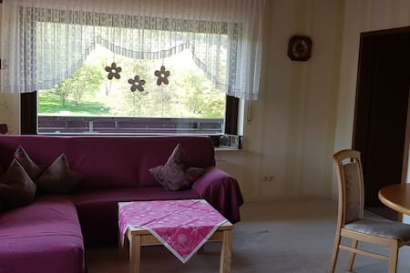 Pension Gästehaus Cornelia (Eschau), Komfortable Ferienwohnung mit sonnigem Balkon mit Panoramablick