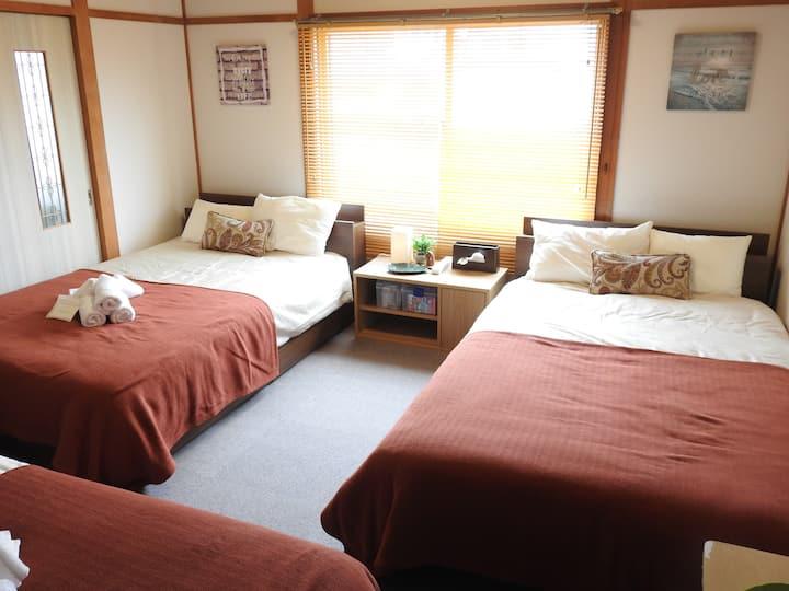Asahikawa big house 10people☆free car space!