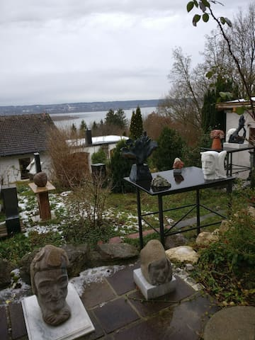 Skulpture garden and Lake Ammersee