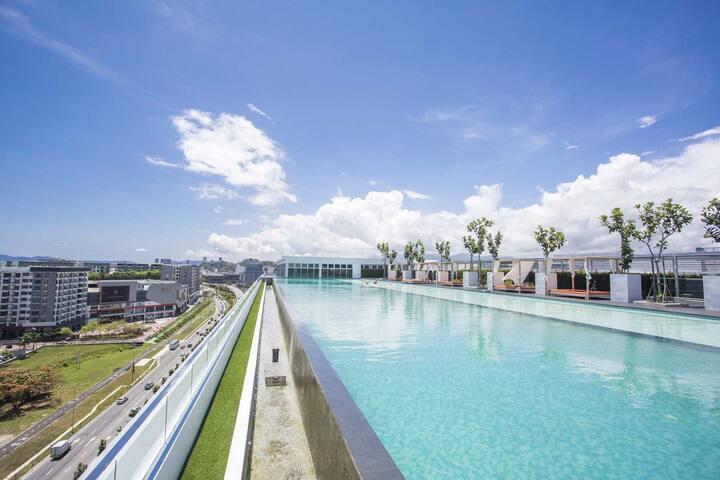 Tiff BleuAvenue 尼蓝简式套房(J&S CO)Kota Kinabalu Sabah