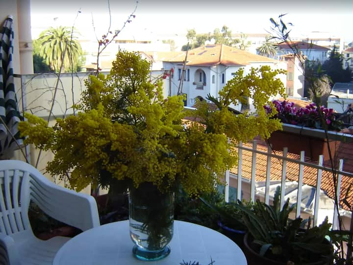 Apartment with one bedroom in Antibes, with wonderful city view, furnished balcony and WiFi