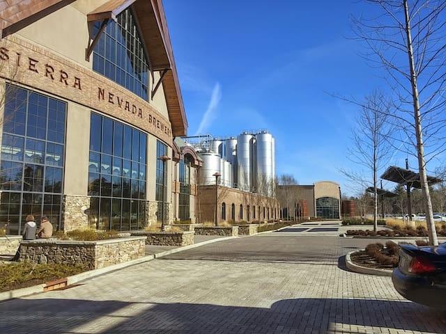 If you love craft beer, Sierra Nevada is a must visit- 4 miles away!