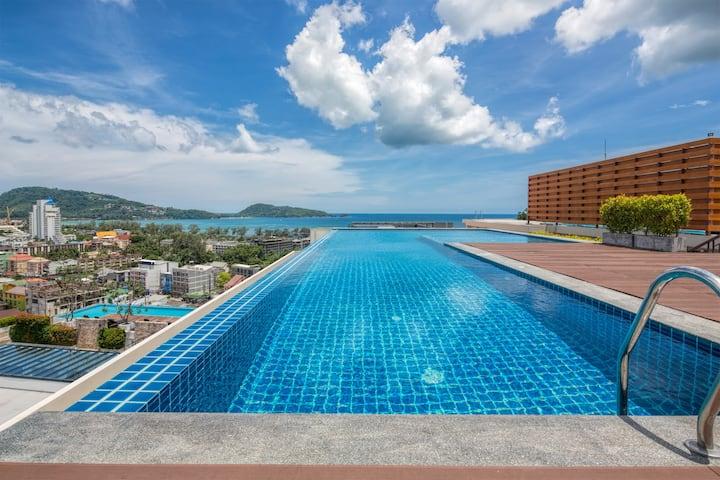 Elegant seaview 1 bedroom apartment@Patong