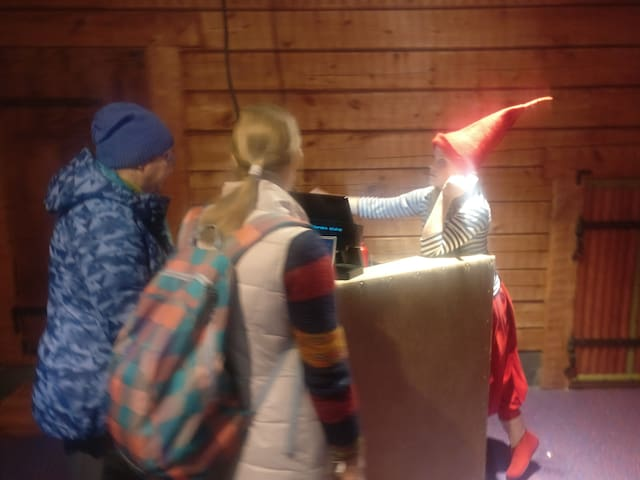 Elf in Santa Claus village