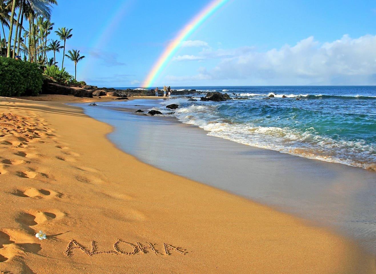 Beautiful Sugar Beach in Kihei, Maui