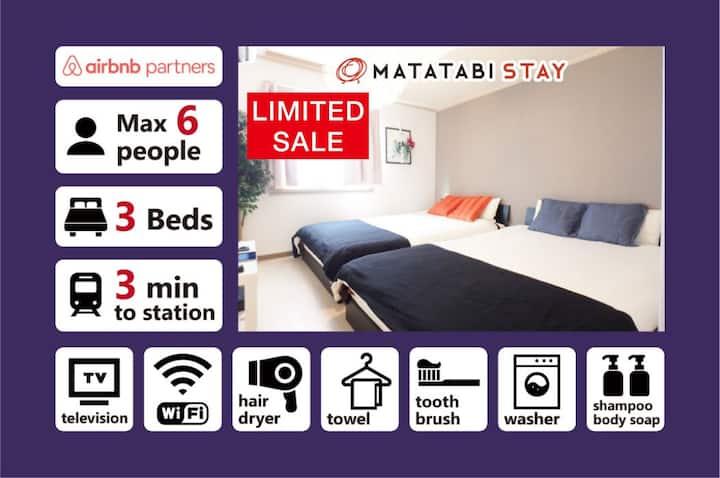[KG503] Convenient Room in Shinsaibashi 6 Guests