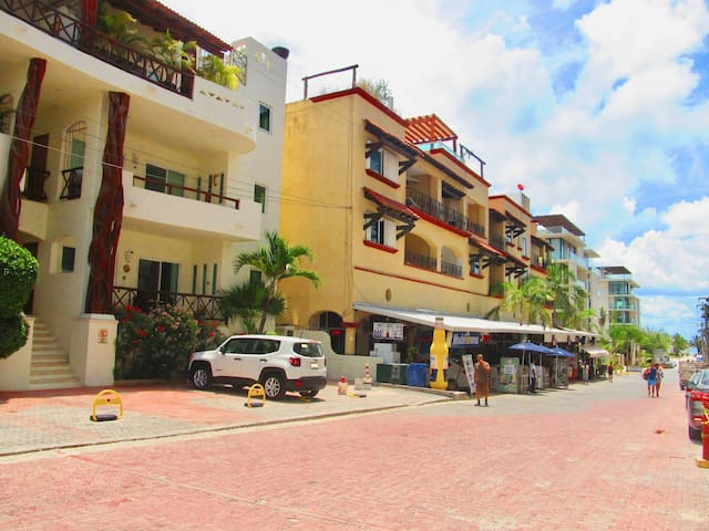 One block from Mamitas Beach condo for 4 people!