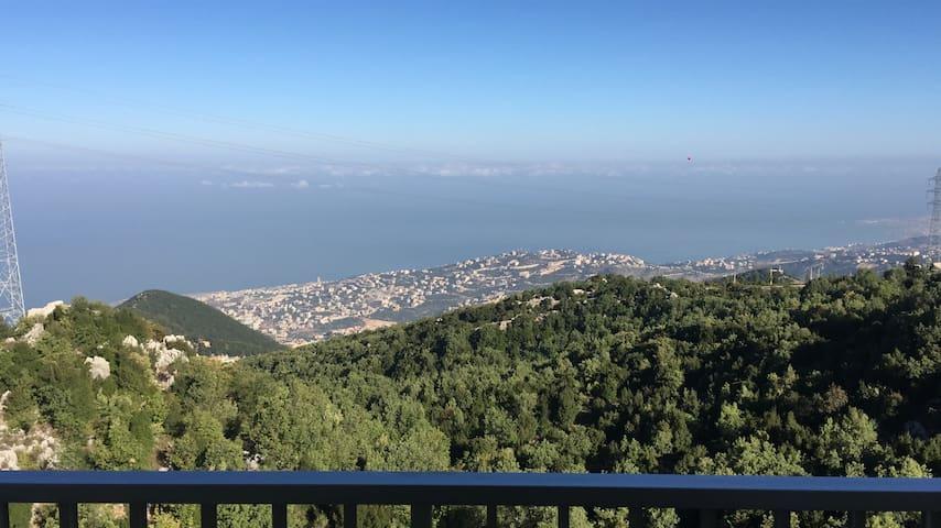 Overlooking the Mediterranean, in Jwar el Bwashek