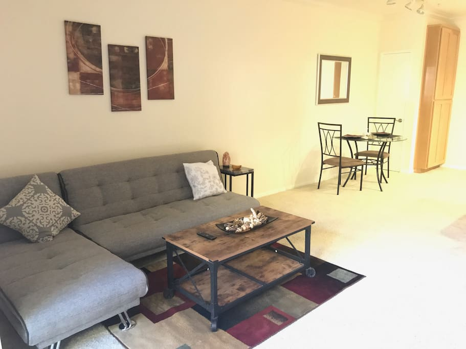 living room with futon