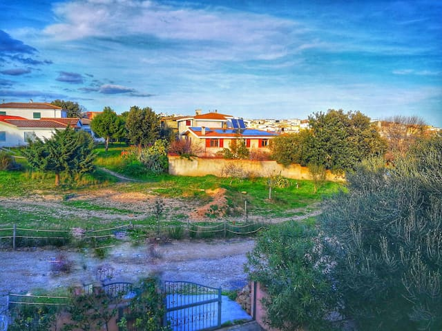Casa con vista sul verde